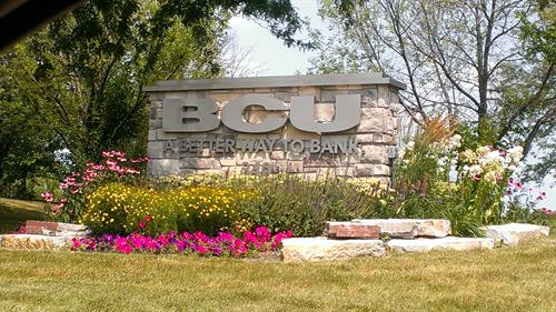 BCU Bank Freestanding Sign