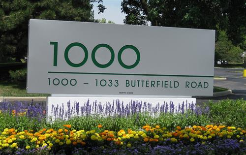1000-1033 Butterfield Road Freestanding Sign