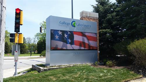 College of Lake County Message Center