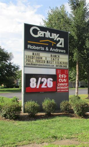 Century 21 Freestanding Sign w/ Attraction Board