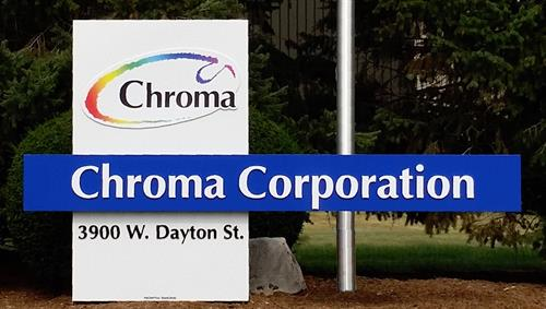 Chroma Corporation Freestanding Sign