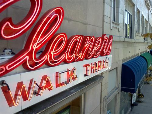 Cleaners Walk Thru Wall Sign