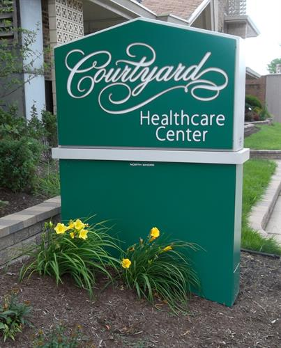 Courtyard Healthcare Center Freestanding Sign