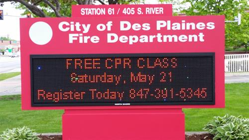 City of Des Plaines Fire Department Message Center