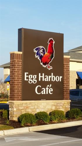 Egg Harbor Cafe Freestanding Sign