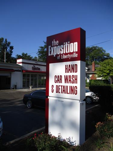 Exposition Car Wash Freestanding Sign