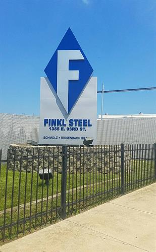 Finkl Steel Freestanding Sign