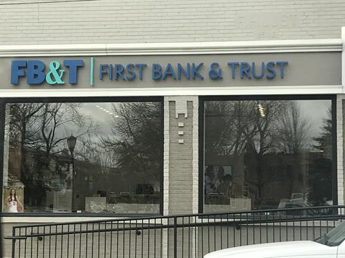 First Bank & Trust Wall Sign