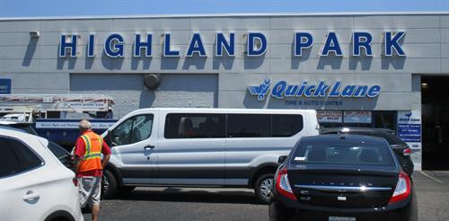Highland Park Dealership Wall Sign