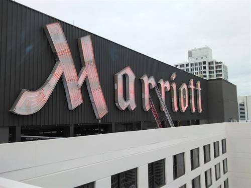 Marriott Wall Sign (Daytime)