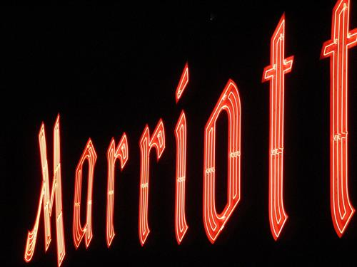 Marriott Wall Sign (Nighttime)