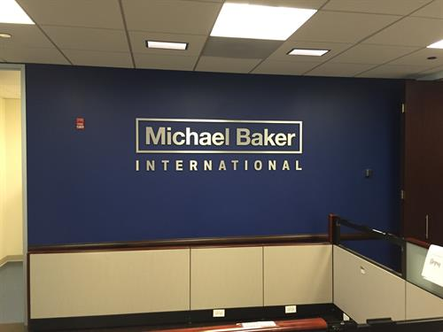 Michael Baker International Interior Sign