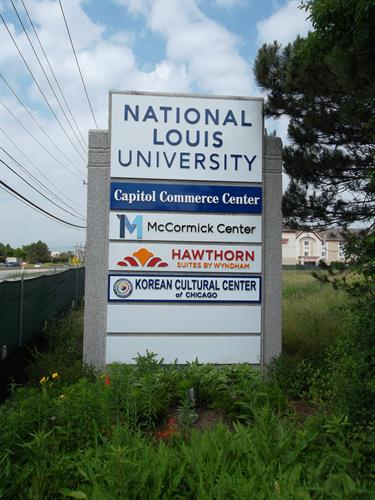 National Louis University Freestanding Sign