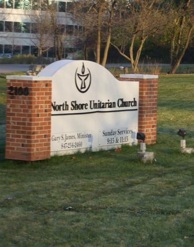 North Shore Unitarian Church Freestanding Sign