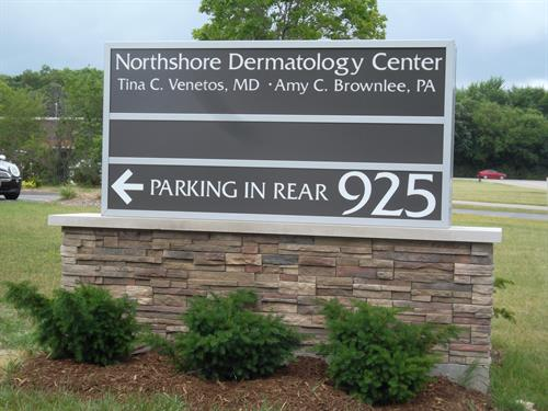 North Shore Dermatology Freestanding Sign