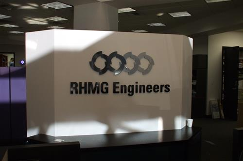 RHMG Engineers Interior Sign