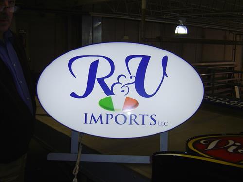 R&U Imports Wall Sign