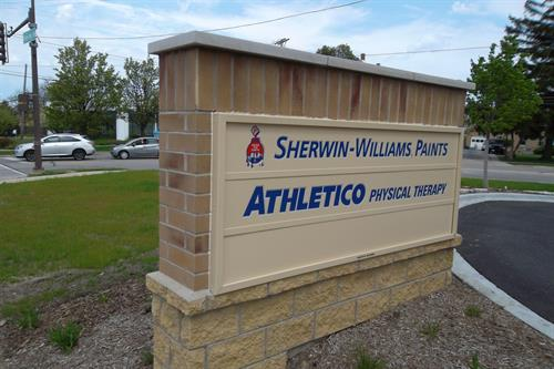 Sherwin Williams & Athletico Freestanding Sign