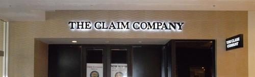 The Claim Company Interior Wall Sign