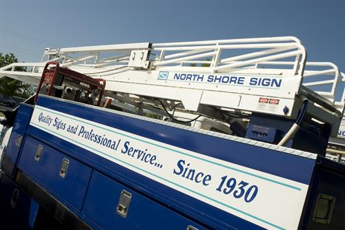 North Shore Sign Truck