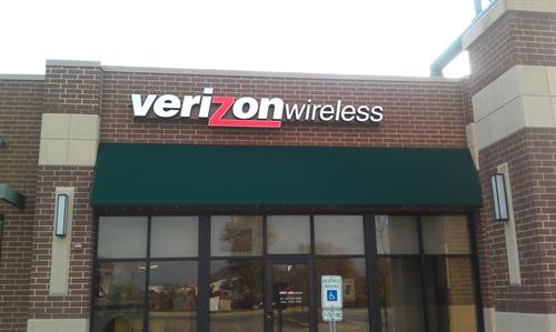 Verizon Wireless Wall Sign