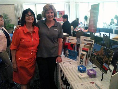 Jeanne Silver and Marian Rodriguez participating in the North Shore Women's Conference on June 4, 2014.