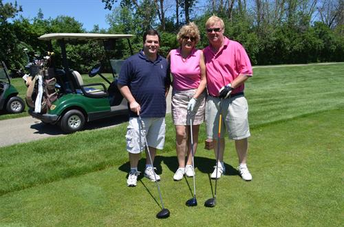 Jeanne Silver participating in the DBR Chamber of Commerce Golf Outing and Marian Rodriguez is the photographer for the event. June 23, 2015.