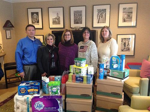 Every year the Chicagoland CARSTAR Group collects necessary items for the Fisher House located at the Hines VA, this was in 2014.