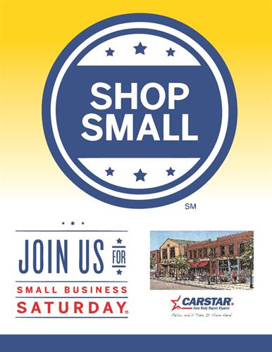 CARSTAR Mundelein participates every year in Shop Small Saturday, we have been participating as a shop for over 5 years.