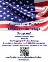 News Release: Support Snarf Foods Snacks For The Troops Program!