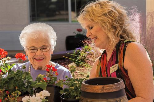 Ask us about our memory care program, Meaningful Moments