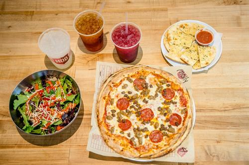 The whole menu spread goes together like family. Bring yours in and find out just how well!
