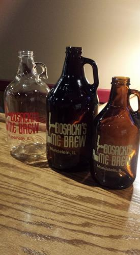 Take fresh beer home to share with family and friends in a variety of growlers.