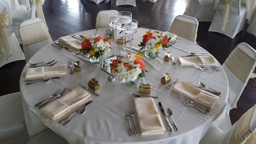Spohn Ballroom wedding table setting