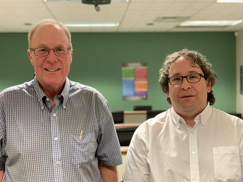 HSE Student David Gregg with HEA volunteer tutor Bill Williamson