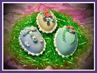 Dahlonega Woman's Club Handcrafted Extra Large Sugar Filled Easter Egg Fundraiser for the Community Helping Place Food Bank