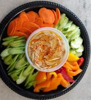 Homemade Hummus with Vegetables - perfect for a gathering of Friends