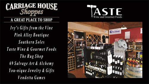 Located in the Carriage House - A Great Place To Shop!