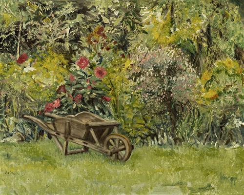 Wheel Barrel in Garden