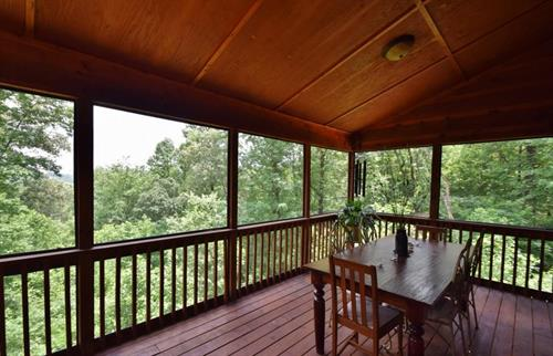 Enjoy the North Georgia mountains from your porch!