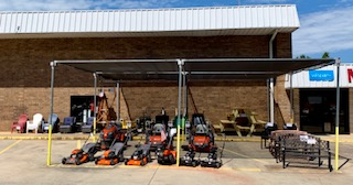 Lawn equipment and patio furniture