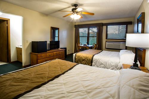 "Room inside one of 4 ""Mini Hotels"". Great for groups! Rented individually on short notice."