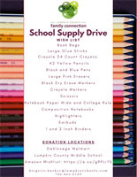 Lumpkin County Family Connection's School Supply Drive