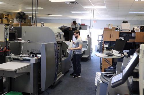 Inside of Studio One O One Printing