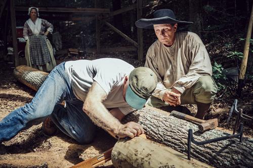 Log cabin building class.