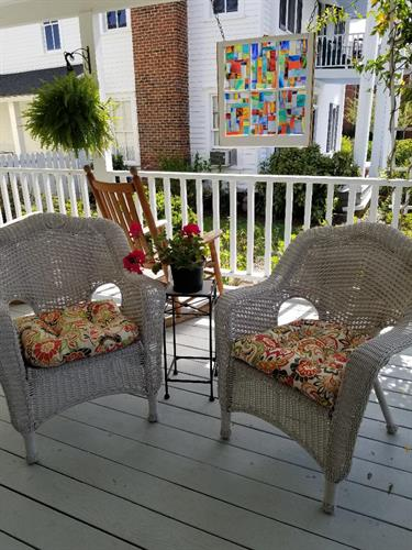 Relax on the wrap round porch