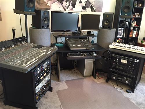 Southern view studio mixing position