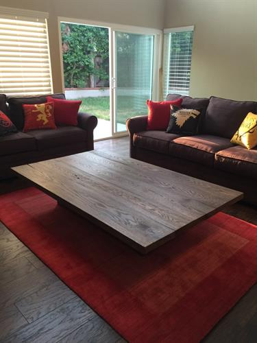 Floating coffee table.