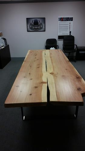 Live edge conference table.