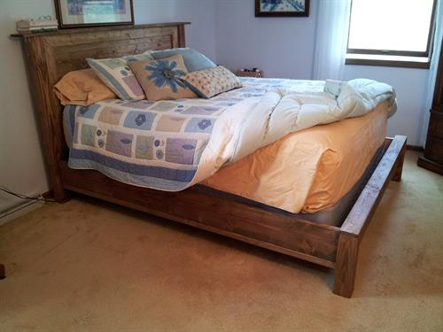 Custom bed.